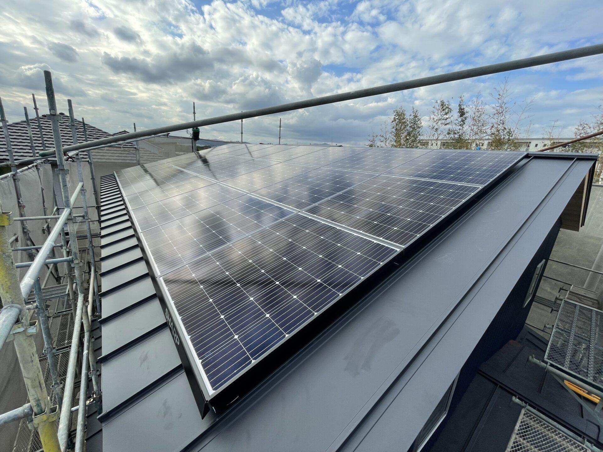創エネ設備の太陽光発電システム@磐田市T邸ZEH